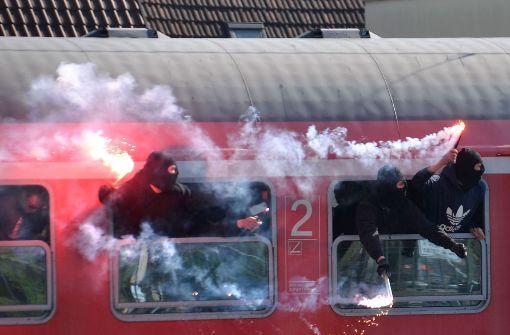 KSC-Fans beschädigen auch bei der Rückfahrt Regionalzug