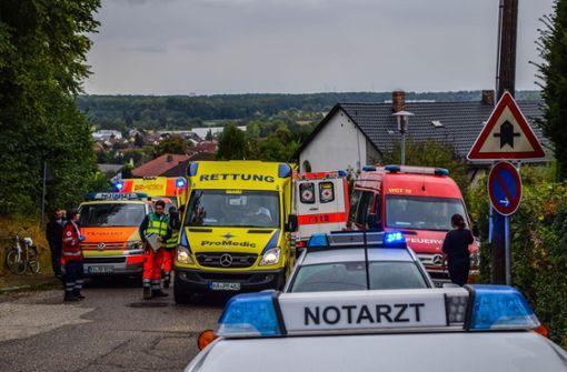 Neben den Einsatzkräften des Rettungsdienstes war auch die Feuerwehr im Einsatz. Foto: 7aktuell.de/Fabian Geier