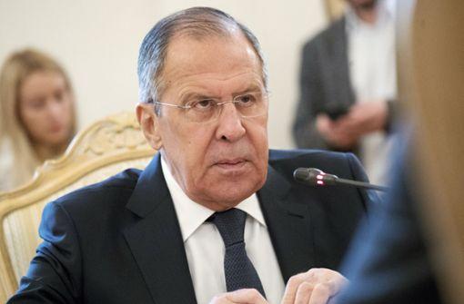 Der russische Außenminister Sergej Lawrow sieht sein Land als unschuldig an. Foto: AP