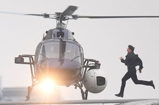 "Tom Cruise bei den Dreharbeiten für ""Mission: Impossible – Fallout"" Foto: dpa"