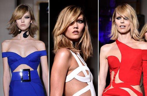 Bleu, blanc, rouge bei Donatella Versace