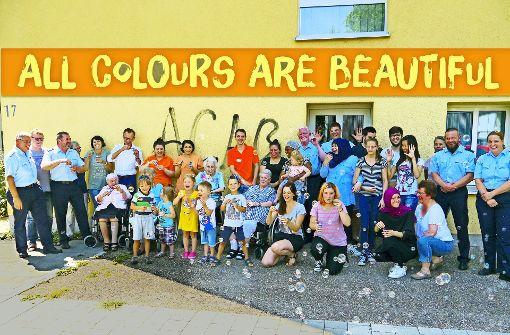 Humorvolles Zeichen gegen Graffiti-Schmierer