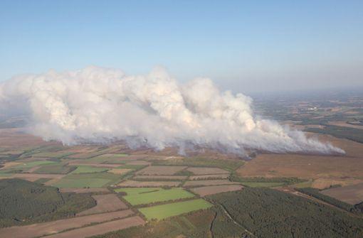 Bundeswehr bekämpft Moorbrand Tornados