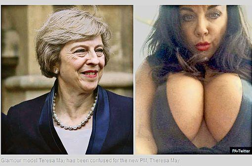 Ups! Theresa May mit Pornostar verwechselt