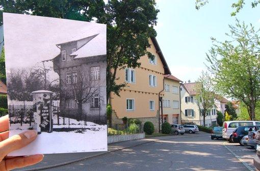"""An der Birkheckenstraße 27 schenkte einst die Gaststätte """"Kurhaus"""" aus. Das Haus steht heute noch, wie der Vergleich der historischen Aufnahme aus dem Jahr 1954 mit der Ansicht aus dem Jahr 2013 zeigt. Foto: Nicole Geißler / privat"""