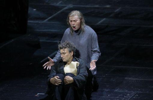 Jonas Kaufmann als Parsifal und René Pape als Gurnemanz. Foto: Patricia Sigerist