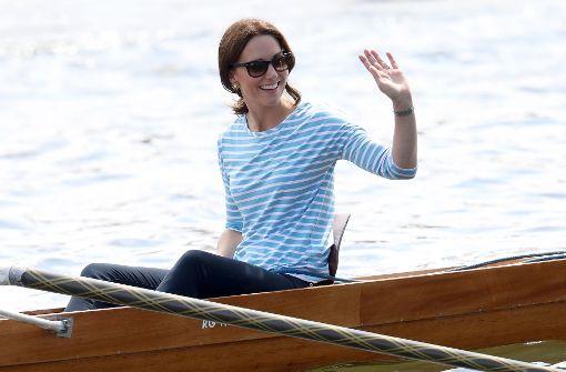 Kate und William rudern auf dem Neckar