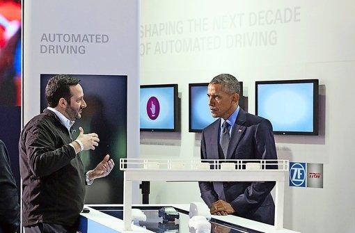 US-Präsident Obama besucht Autozulieferer ZF