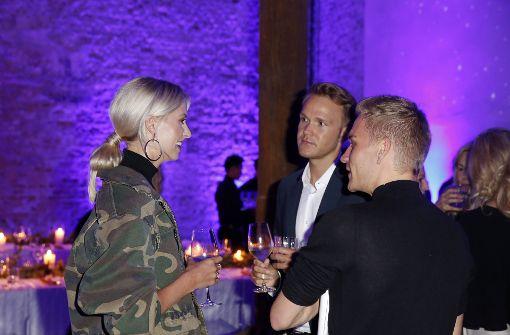 Model Lena Gercke, hier im Gespräch,... Foto: Getty Images