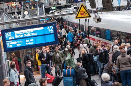Bahn kam 2017 häufiger zu spät