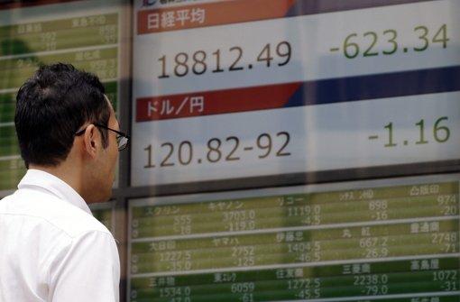 Börsen in Asien brechen ein