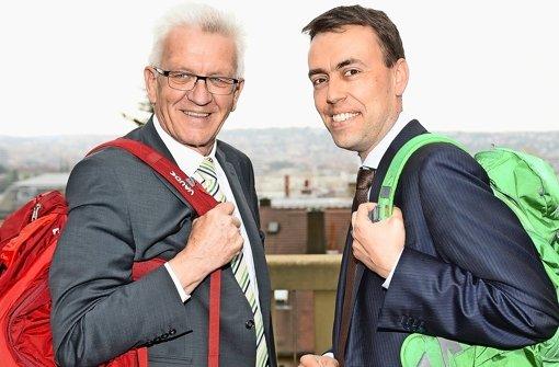 Winfried Kretschmann und Nils Schmid schultern eine komfortable Mehrheit.  Foto: dpa