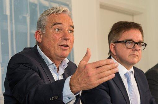 Bloß keinen Streit! CDU-Landeschef Thomas Strobl (l.) und Spitzenkandidat  Guido 2a67ac9536