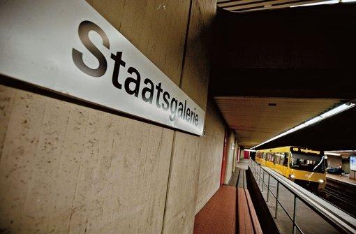 Die Haltestelle Staatsgalerie muss im Zuge von Stuttgart 21 verlegt werden. Foto: Leif Piechowski