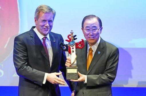 Ban Ki Moon mit Deutschem Medienpreis geehrt