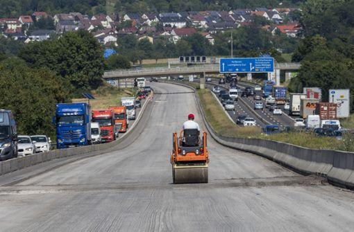 Baustellenrekord auf  Autobahnen
