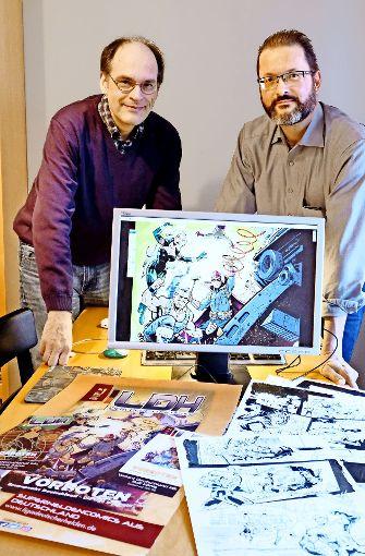 Zwei der Schöpfer: Martin Frei (li.) und Stefan Dinter.  Foto: Lichtgut/Michael Latz