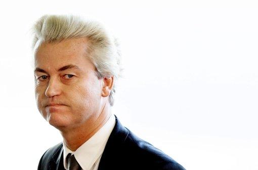 Geert Wilders spricht bei Kundgebung
