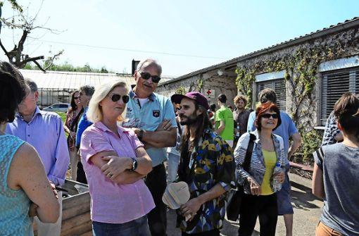Kuhn und Untersteller  besuchen Fest auf Walz-Areal