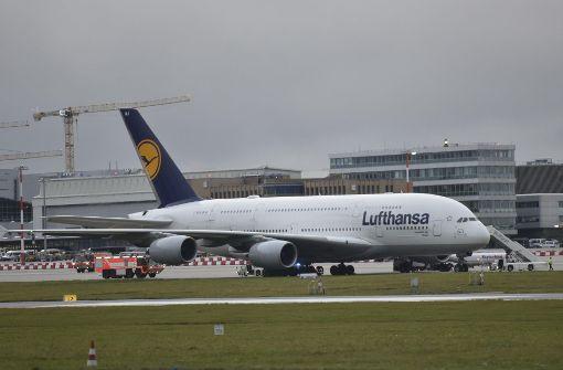 Airbus 380 landet außerplanmäßig in Stuttgart