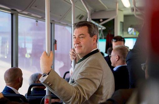 Pausenlos als Wahlkämpfer unterwegs: Markus Söder (CSU) Foto: dpa