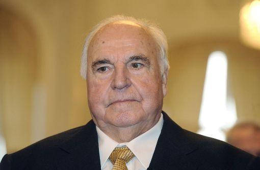 Helmut Kohl war 2009 zu Gast im Neuen Schloss in Stuttgart. Foto: dpa