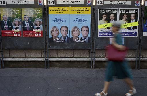 In der ersten Runde der französischen Parlamentswahlen... Foto: AP