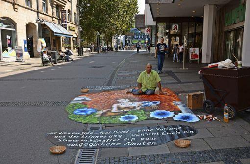 Straßenkunst in der Marktstraße