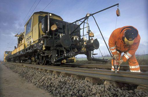 Gleisarbeiten auf Rekordniveau