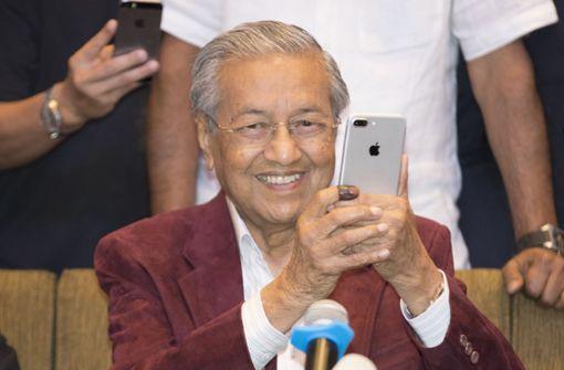 92-jähriger Mahathir Mohamad  gewinnt Parlamentswahl