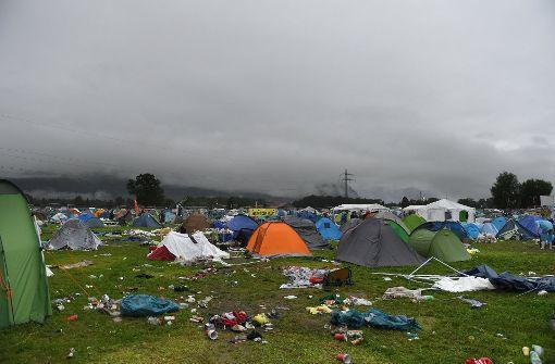 Festival in Bayern nach Unwetter abgebrochen