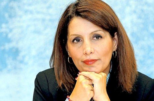 Bilkay Öney bedauert jetzt vor der Presse  ihren verbalen Ausrutscher. Foto: dpa
