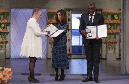 Nadia Murad und Denis Mukwege nehmen Friedensnobelpreis entgegegen