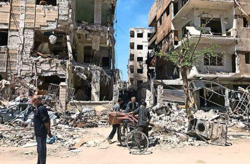 Die neun Experten sollen den mutmaßlichen Giftgasanschlag in dem syrischen Ort Duma untersuchen. Foto: AP