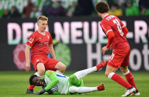 Der VfB Stuttgart kommt beim VfL Wolfsburg zu einem Punktgewinn. Foto: Bongarts