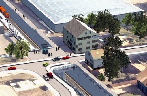 So soll der Bahnhof in Sielmingen samt Aufzug aussehen. Foto: SSB AG
