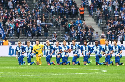 Hertha bringt US-Protest in Bundesliga
