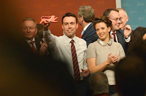 Nils Schmid wurde beim SPD-Landesparteitag frenetisch gefeiert. Foto: dpa