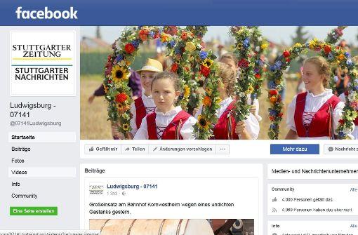 """Die Seite  """"Ludwigsburg 07141"""" hat 4000 Fans"""