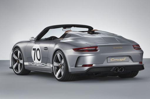 Der puristische Rennwagen 911 Speedster Concept gibt einen Ausblick auf ein mögliches Serienmodell, das 2019 vorgestellt werden könnte.  Foto: Porsche