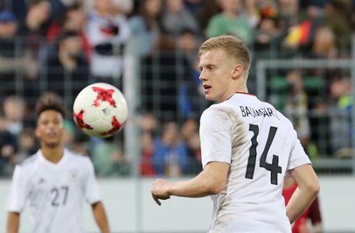 Timo Baumgartl vom VfB ist für die U21 Deutschlands nominiert. Foto: Pressefoto Baumann