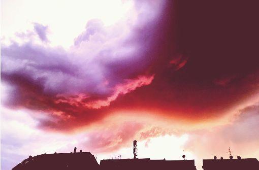 So kam es zu dem Farbenspiel am Himmel
