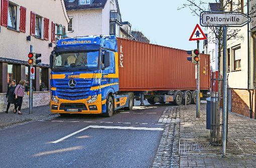 Remseck plant ein weiteres Lastwagenverbot