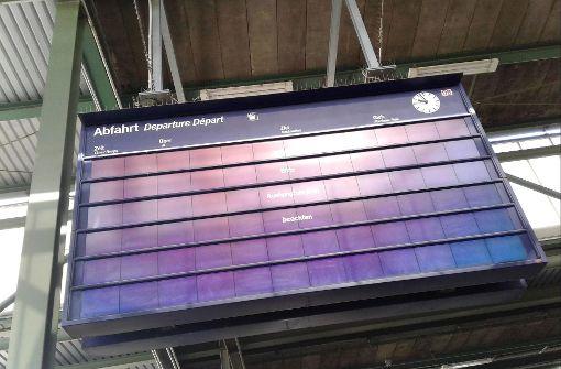 Bei der Bahn sind auch in Stuttgart die Anzeigetafeln teilweise ausgefallen. Foto: 7aktuell.de/Andreas Friedrichs