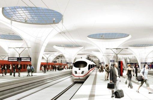 Der neue Stuttgarter Hauptbahnhof. Foto: Visualisierung: Aldinger & Wolf