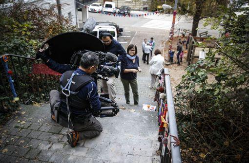 Die Japaner würden sich sehr für die Stäffele interessieren, sagt Kento Tamakoshi, der für NHK arbeitet, aber in Deutschland lebt. Foto: Lichtgut/Leif Piechowski