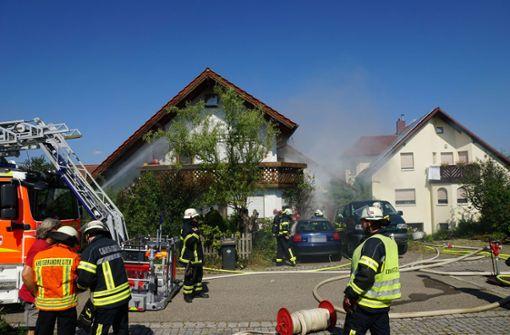 In einem Wohnhaus in Wäschenbeuren hat es am Donnerstagvormittag gebrannt. Foto: SDMG