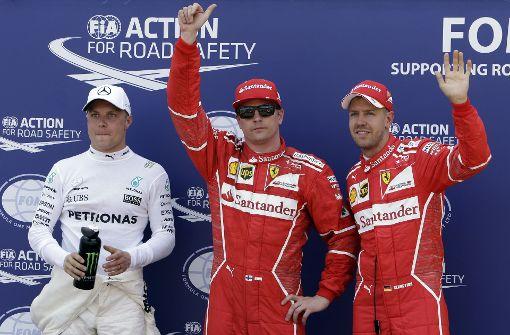 Kimi Räikkönen holt Pole vor Sebastian Vettel