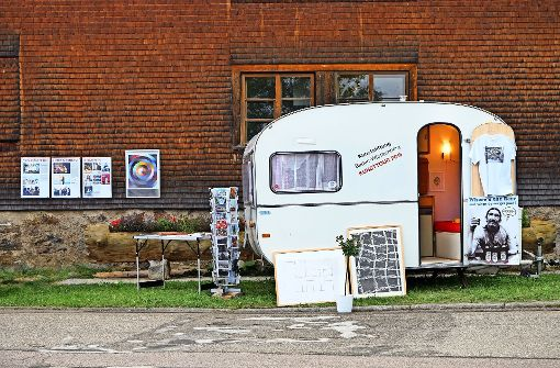Wanderausstellung im Campingbus
