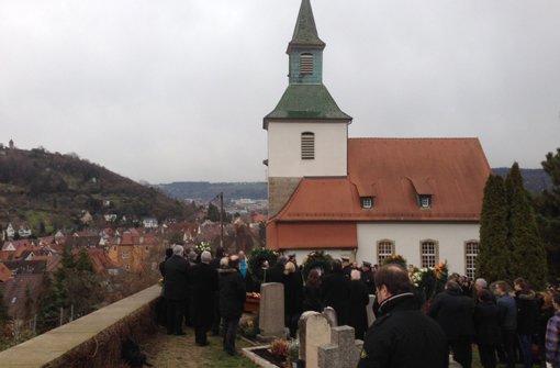 In der Petruskirche in Obertürkheim nahem Freunde und Weggefährten von Sante de Santis Abschied. Foto: StN